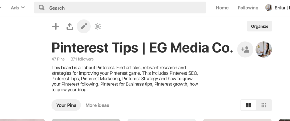 How to add Pinterest board covers to your Pinterest account by EG Media Co.   Pinterest Board Covers, Pinterest Tips, Pinterest Board, Social Media Tips, Canva, DIY, Pinterest Boards