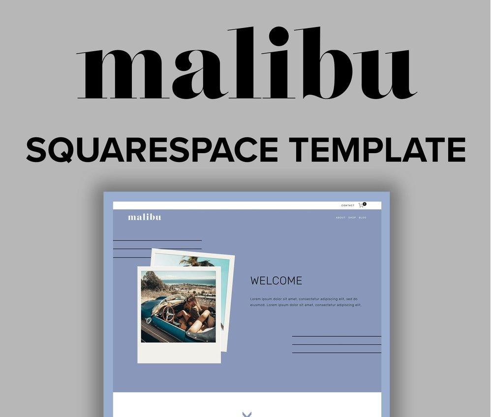 Malibu Squarespace Template