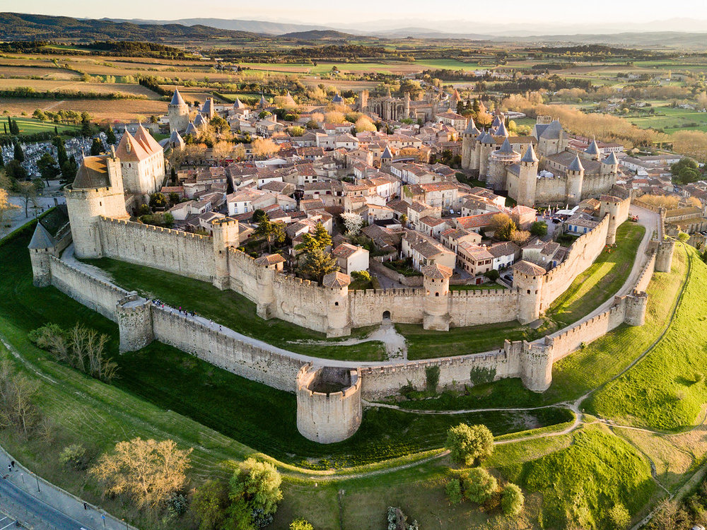 Carcassonne - the walled fortress town which inspired Walt Disney