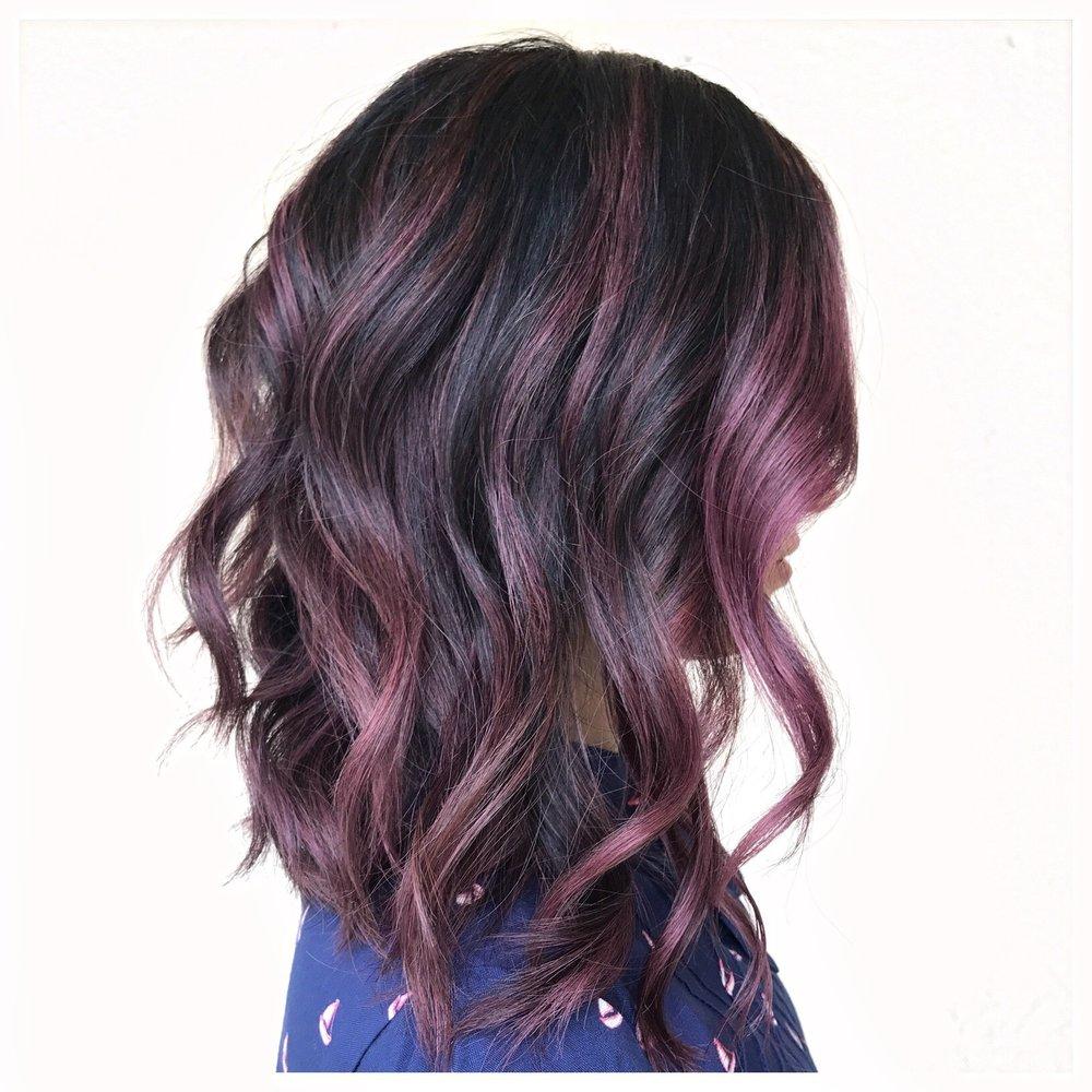 Fantasy color | mid length haircut