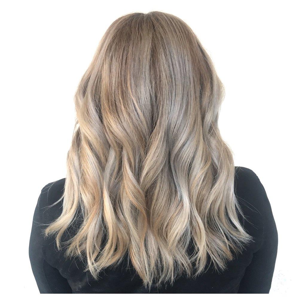 Blonde Hair Mid Length