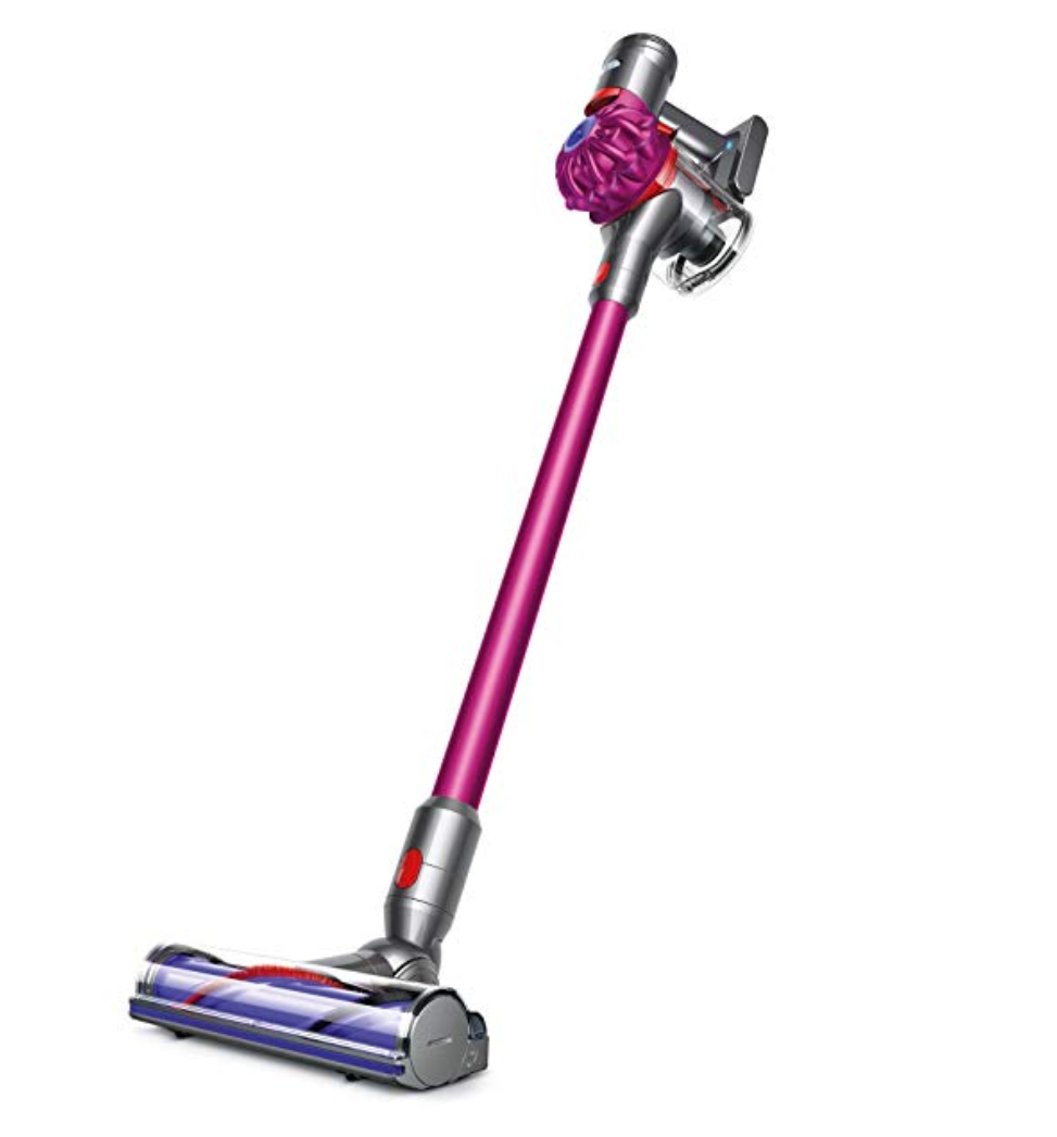 Dyson v7 Cordless Vacuum    When we moved homes this year, we took advantage of the Dyson sale and splurged on a cordless vac. I didn't know what all of the hype was about, but this product is honestly amazing. It has given me the ability to help with vacuuming again (it's lightweight and fairly quiet), and makes keeping a spiffy home so easy.