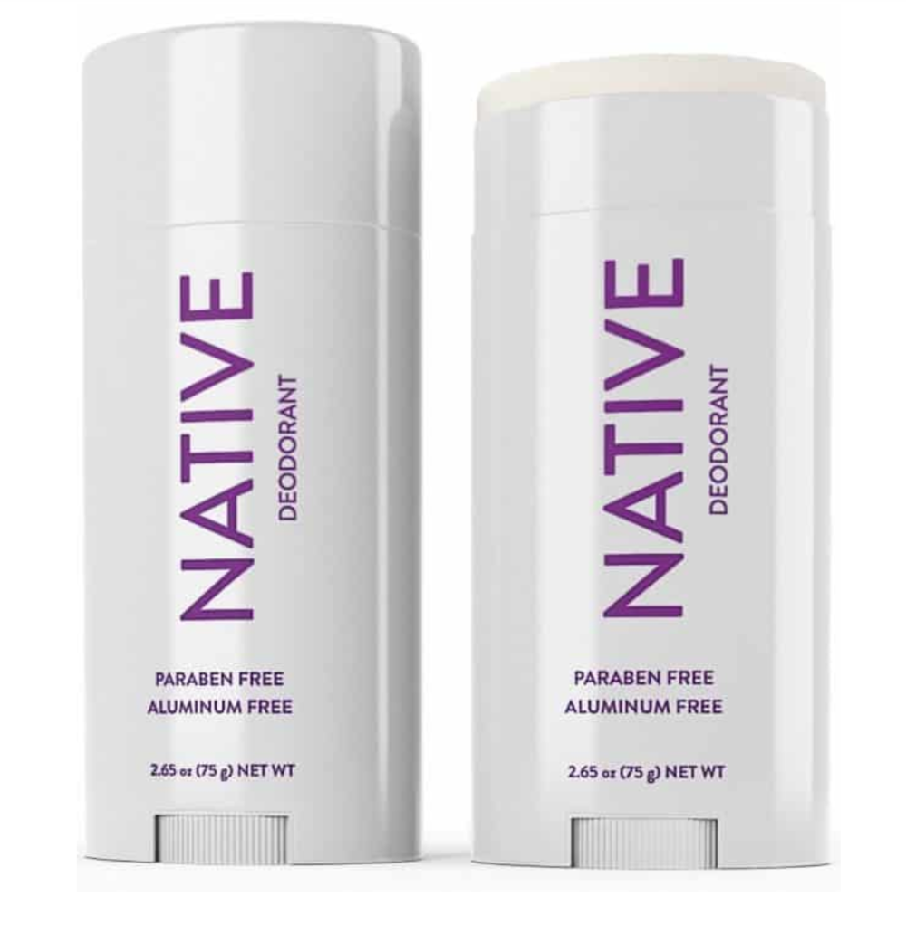 Native Deodorant    The only natural deodorant I've tried that has worked for me! My Mom found this company through her breast cancer support group, and it is an amazing product. We have too many important lymph nodes under our arms to not be mindful of the products we put there every day. Free shipping and returns! Only $12. It's a no brainer. My favorite scent is the lavender-rose.