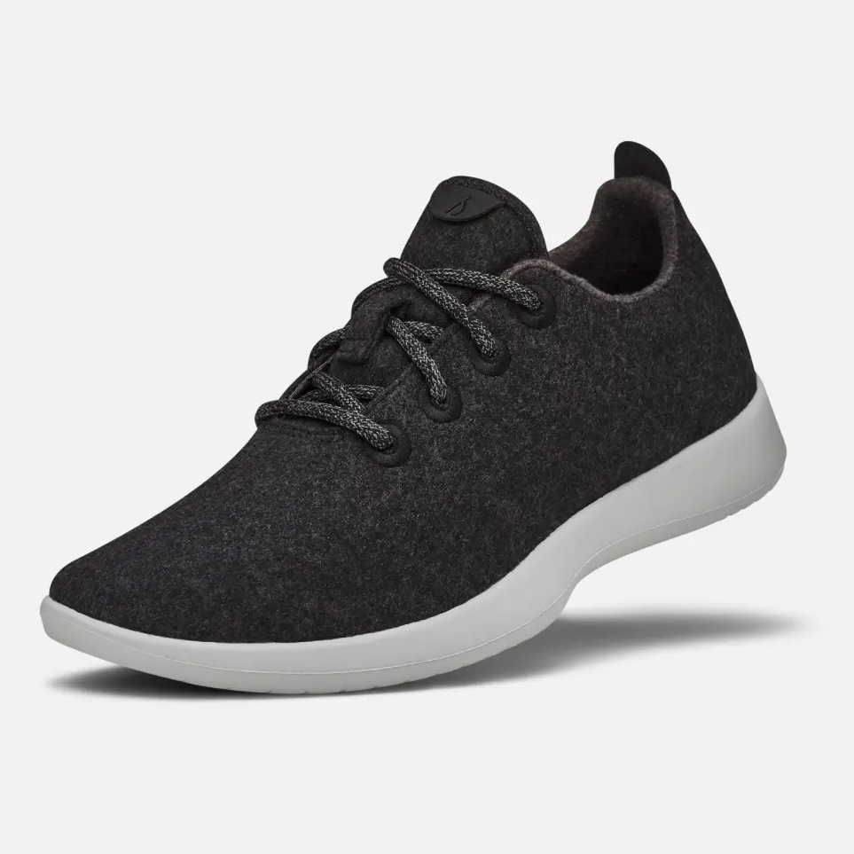 Allbirds Wool Runners    These are the most comfortable sneakers around 😍you can wear them with or without socks, and they're machine washable! My boyfriend and I both have had them for several years and they're our go to walking shoe. I love their neutral colors because #allblackeverything, but they have lots of fun colors too.