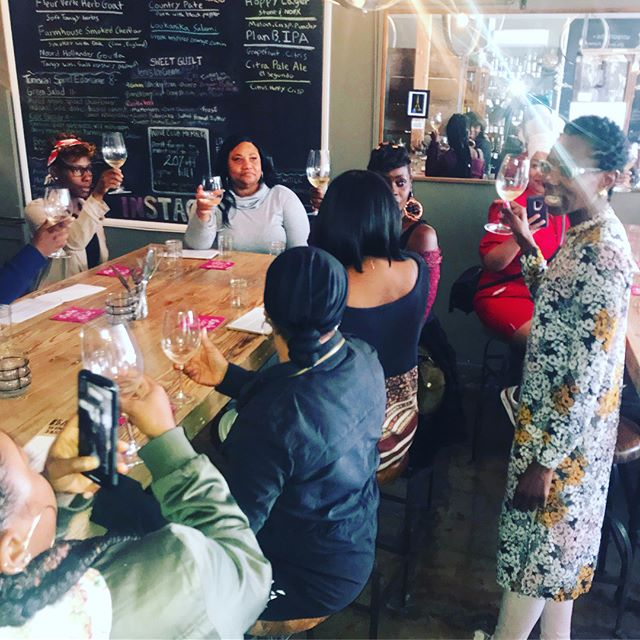 Food! Flight! Fun! Guests were treated to a cross-cultural experience thru hints of North African vibes and a sneak peaks of @thesoukmb . This husband and wife team are a dynamic duo, and represent the beauty and diversity of African heritage!  #tbbt #bustour #LAMeetup #culturalexchange #blackowned #barshawines  #winetasting #thesoukmb  #theblackbusinesstour