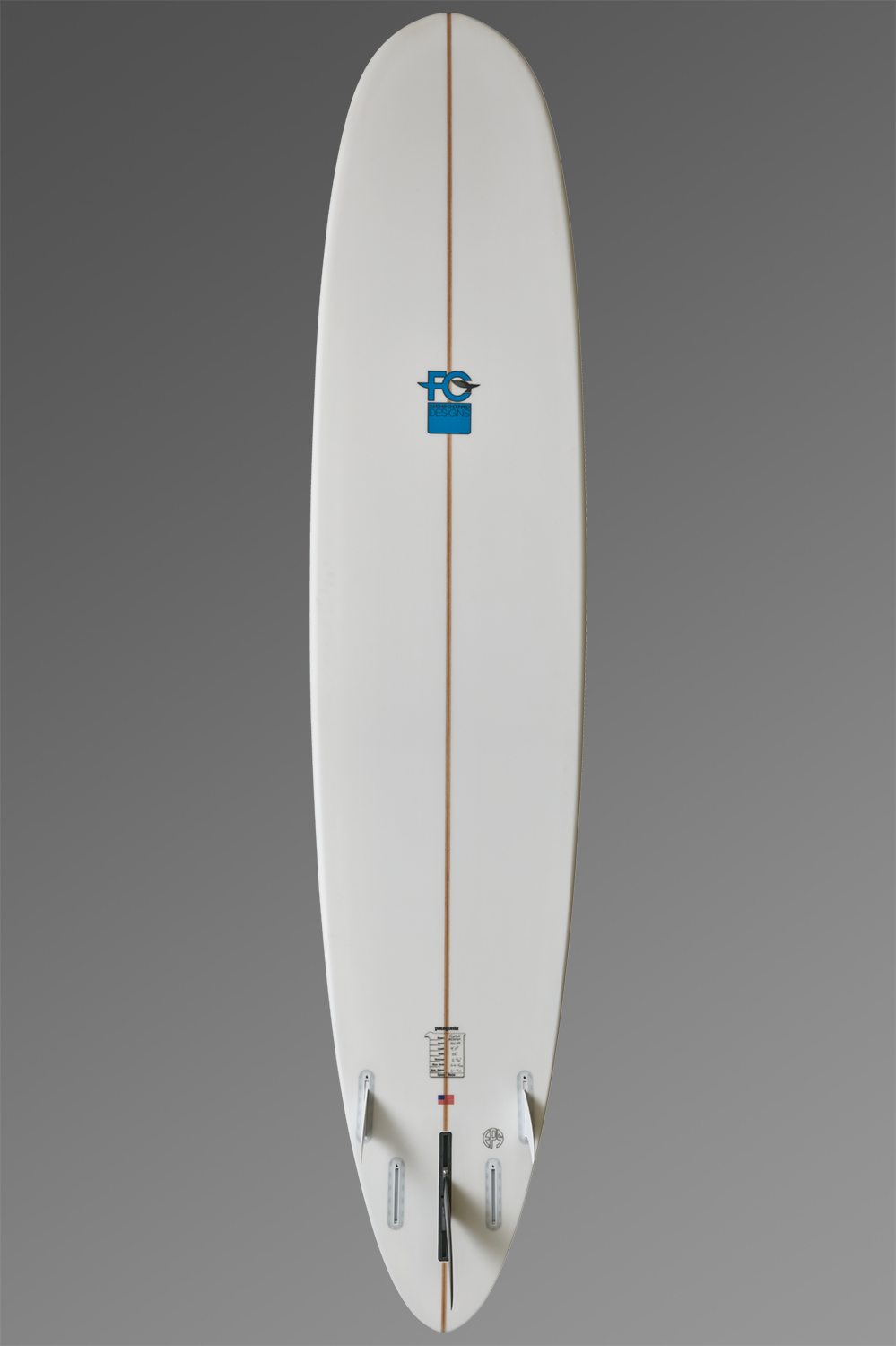 FCD Surfboards_Hawaii HP Bottom_Fin_Longboard_Grey.png