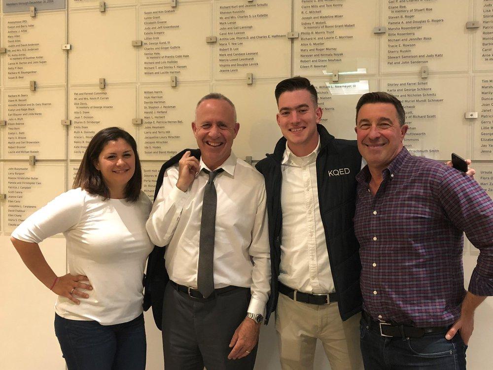 From left: Marisa Lagos, Mayor Darrell Steinberg, Guy Mazorati, and Scott Shafer.