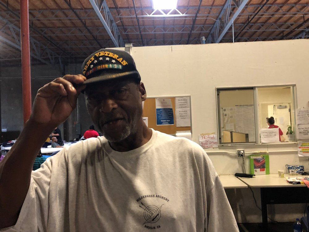 David Patterson recently arrived at the City's Triage Shelter. He suffers from a variety of health problems and recently had a triple bypass operation.