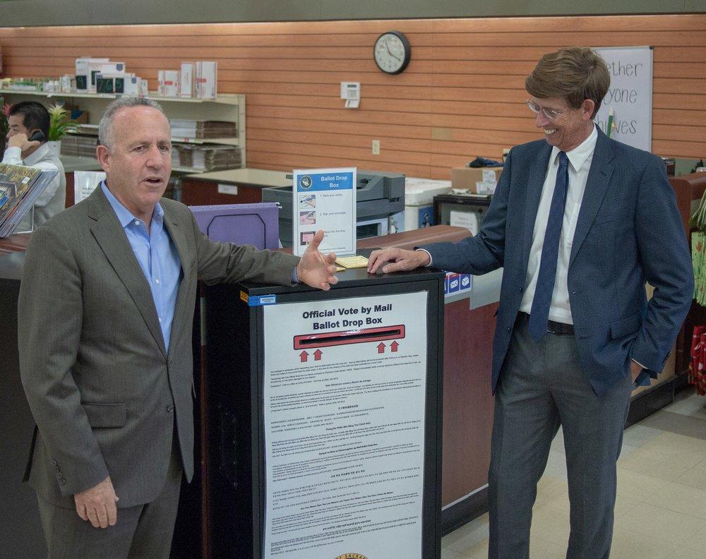 Mayor Steinberg + Sacramento County Supervisor Nottoli