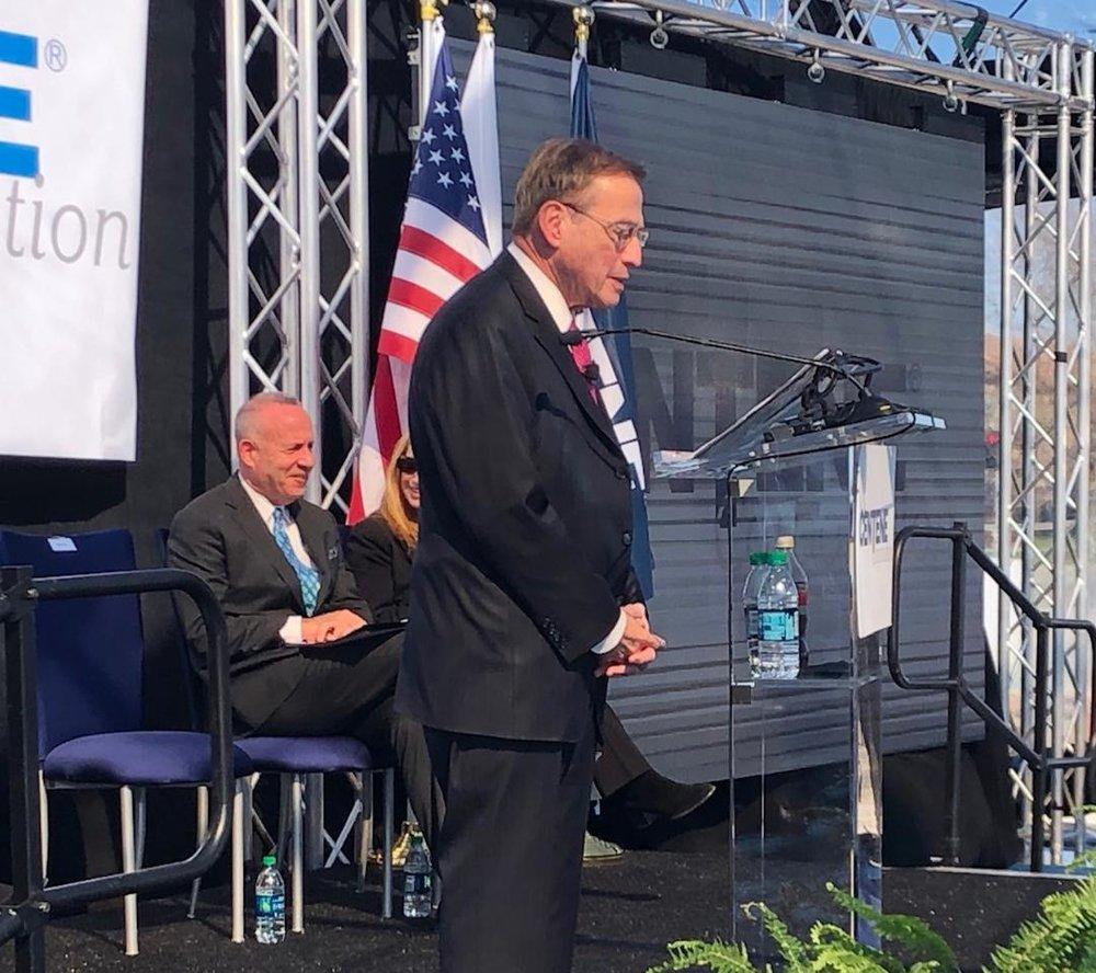 Centene CEO Michael F. Neidorff announces the company's arrival in Sacramento.