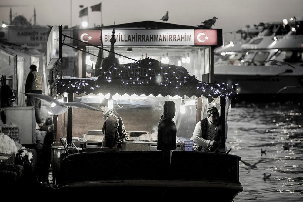 Boat restaurant - Istanbul