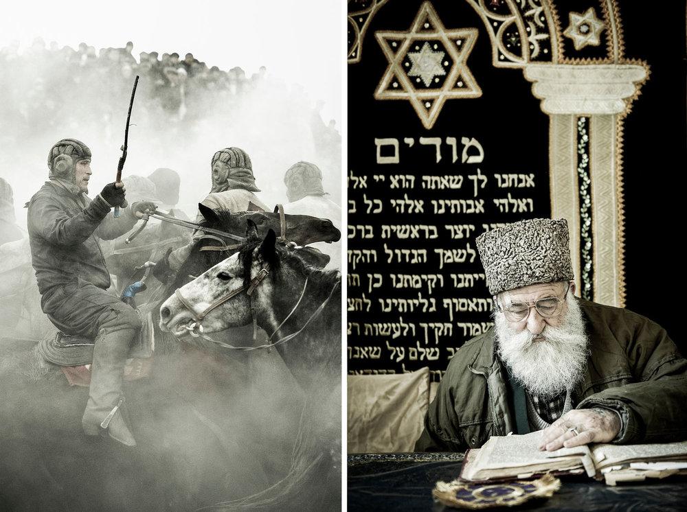 Buzkashi contest - Portrait of Rabbi Araon Sianov