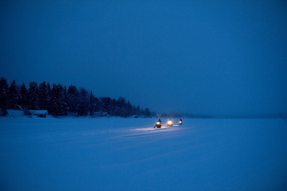 Winter in Kiruna, Sweden