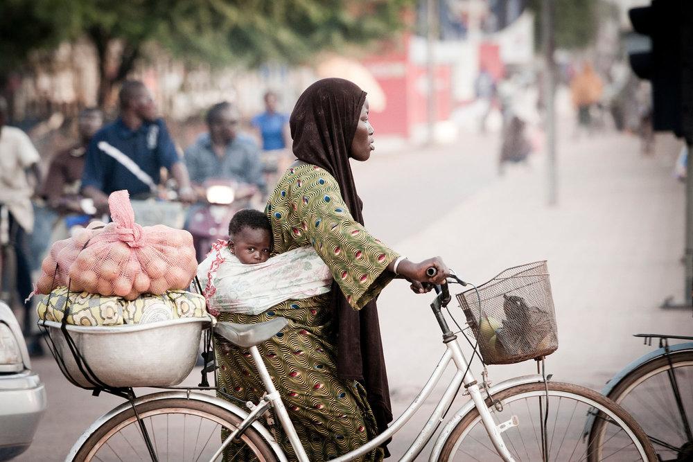 Street scene, Ouagadougou, Burkina Faso