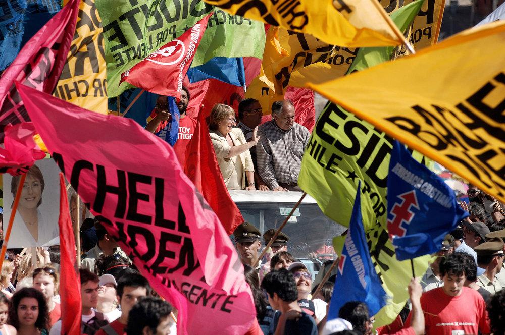 Michelle Bachelet running for president