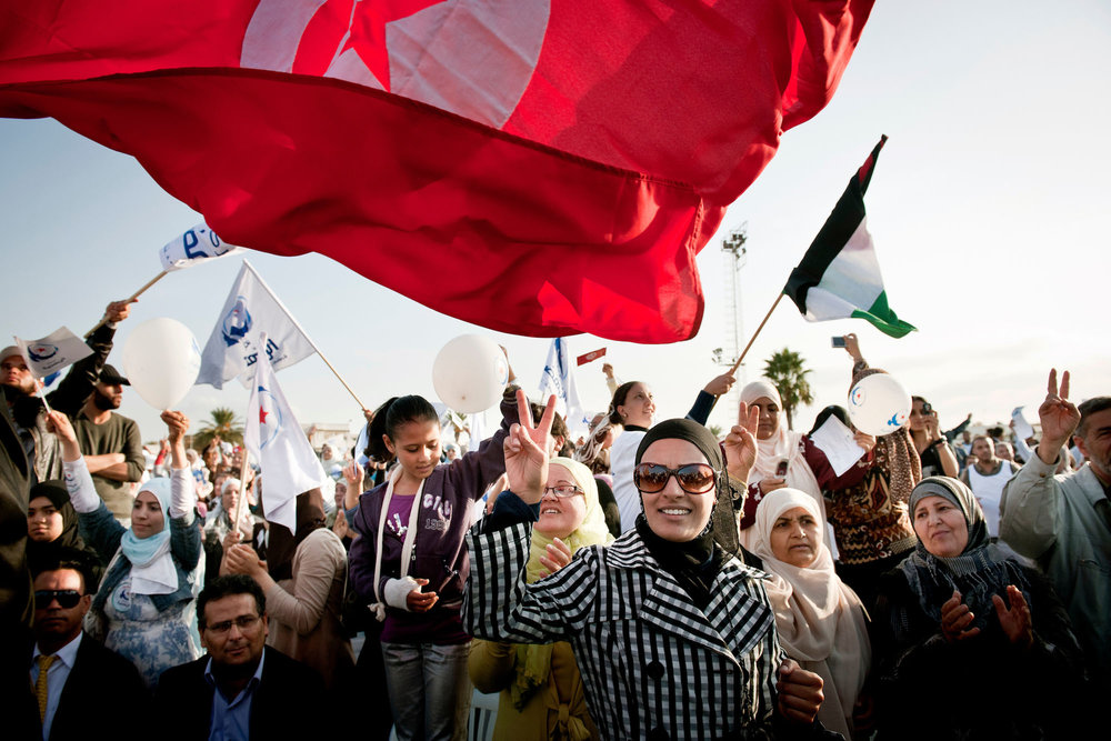 Tunisia - Campaign meeting of Ennahdha