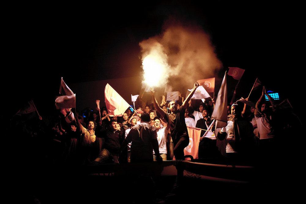Manifestaciones durante la Primavera Árabe en Túnez. Foto: Ezequiel Scagnetti