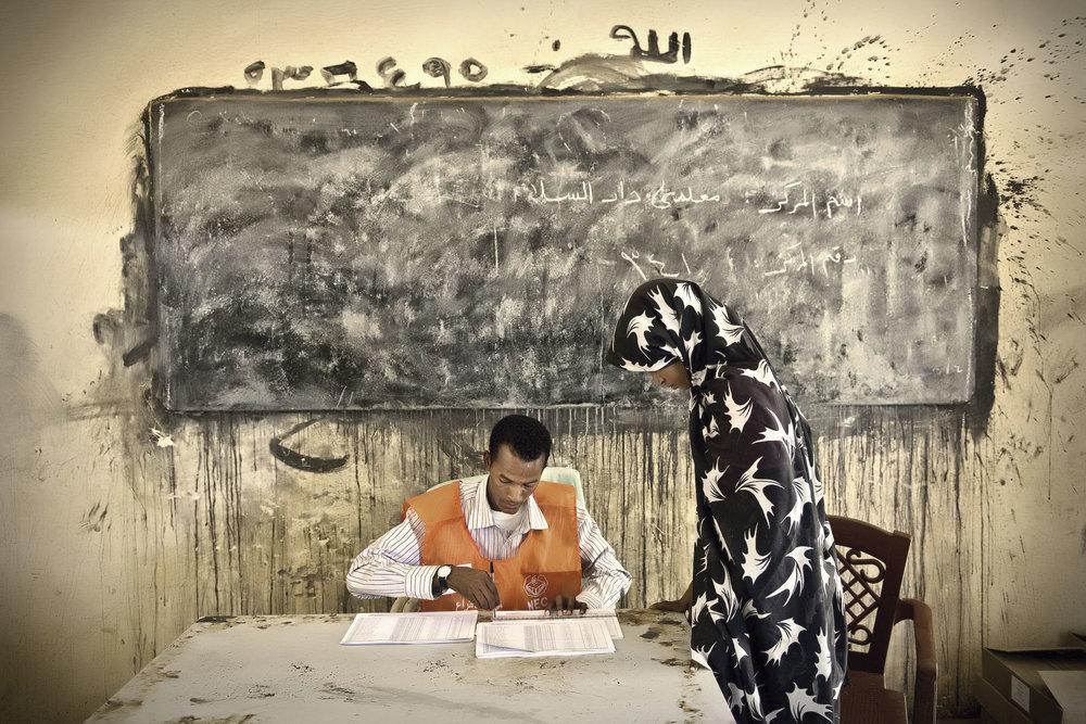 Elecciones en Sudán. Foto: Ezequiel Scagnetti