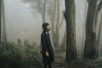 Mt Davidson Forest Portrait of Hedda Selder by SF photographer Jaclyn Le