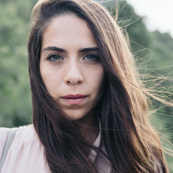 Portrait of Mexican fashion designer Rebecca Garrido by Jaclyn Le