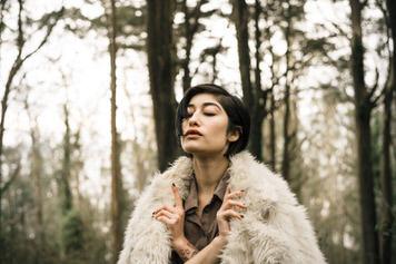 Mount Davidson portrait of Adrianna Reloba Benzakour by portrait photographer Jaclyn Le