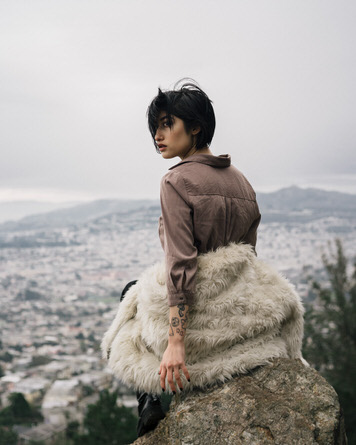 Mount Davidson portrait of Adrianna Reloba Benzakour by California photographer Jaclyn Le