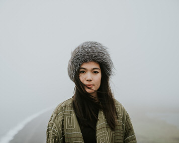 Fog head shot of Veronica Tran by Bay Area photographer Jaclyn Le