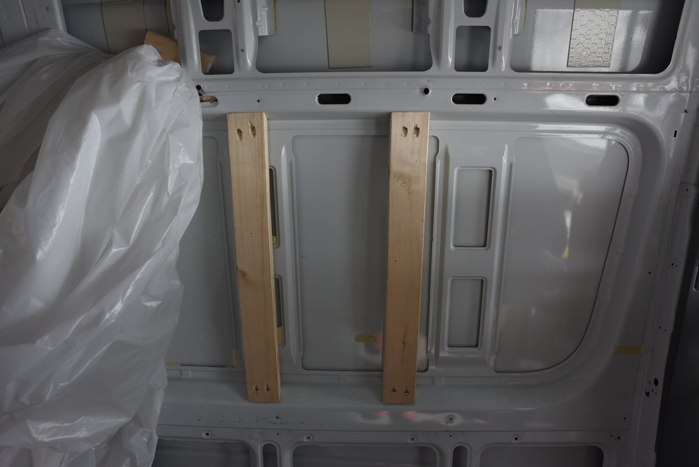 In other panels we were able to attach the boards vertically so we could avoid any chiseling.
