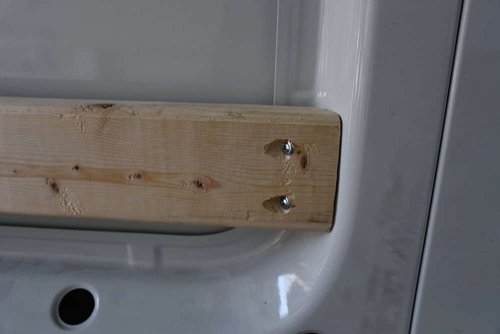 The recessed screw holes also allow the screws to go further through the wood so that there is more screw sticking into the metal.