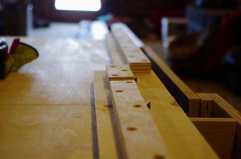 These strips of wood are used to attach lids of the bench to the box structure of the bench while keeping the screws hidden inside of the bench.