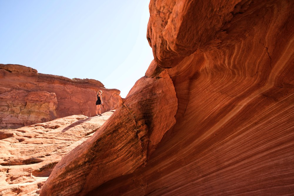 Make sure to check out the striped sandstone just beyond the Fire Wave as well!