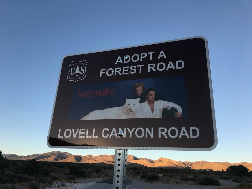 Seriously, only in Nevada would a Forest Service Road be sponsored by magicians.