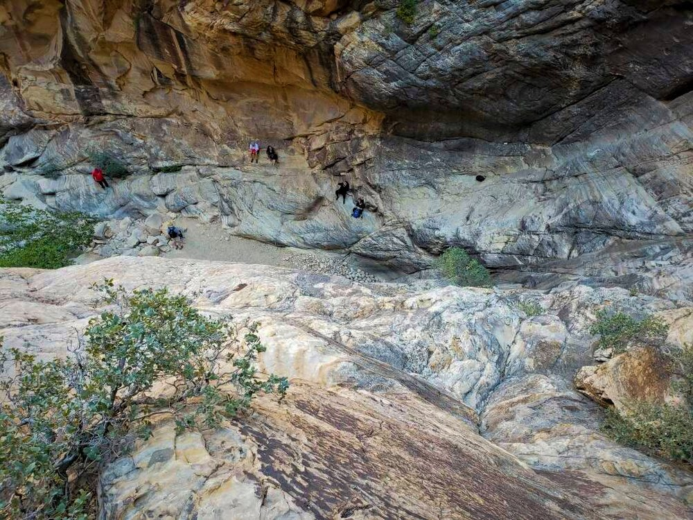 A photo taken by Ian, while looking down on the other hikers in the canyon.