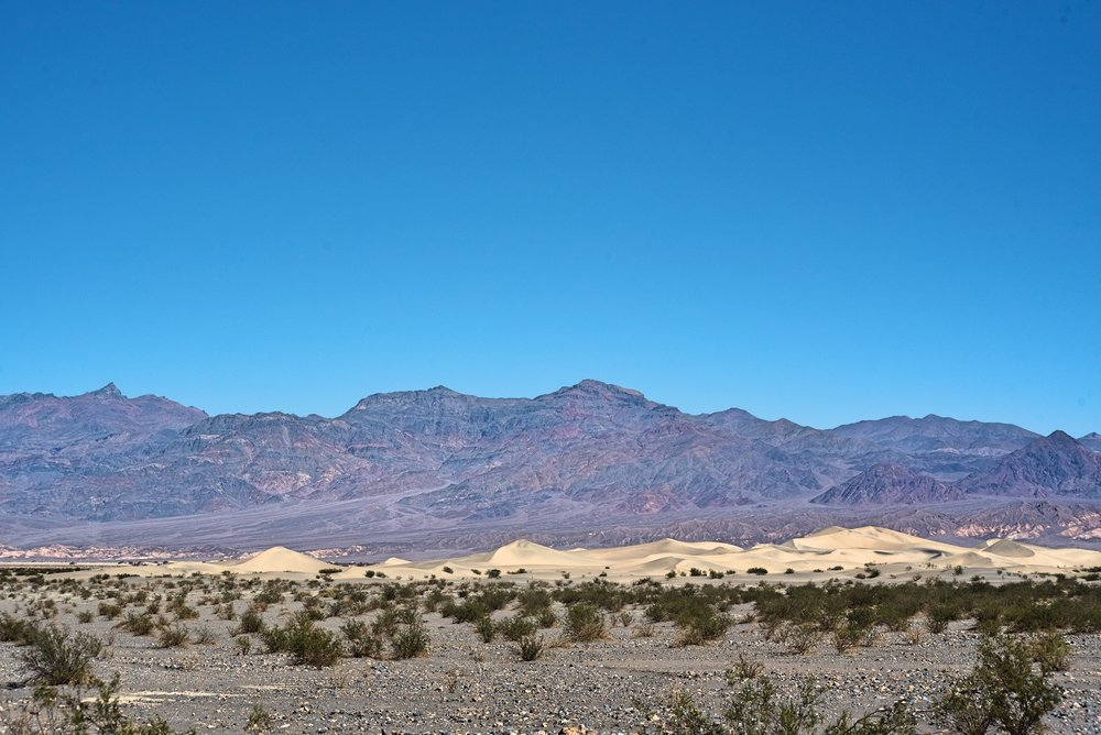 The Mesquite Flat Sand Dunes in the distance.