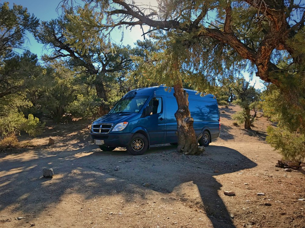 Dispersed camping in the Inyo National Forest.