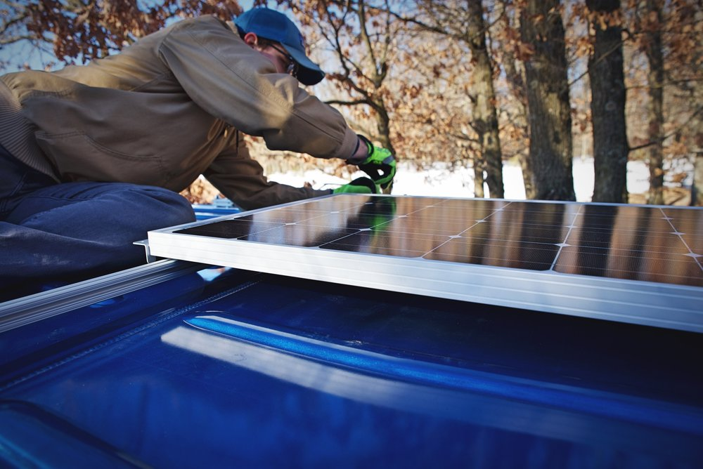 We can charge our external batteries off our roof-top solar panels and then take them anywhere.