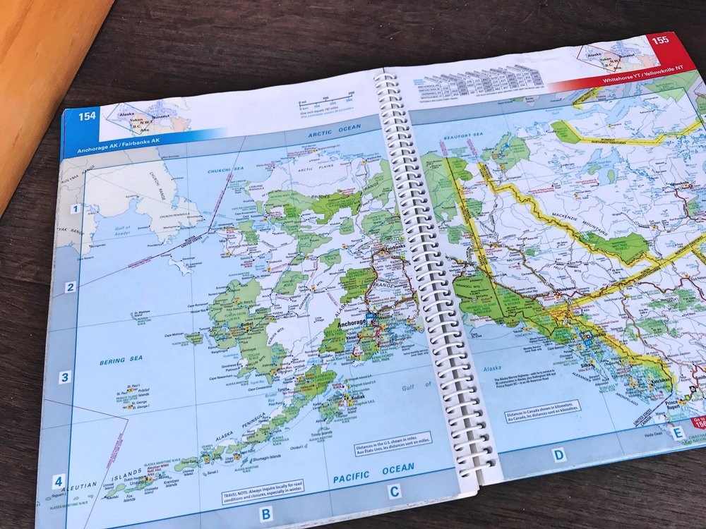 When we were in Alaska and Canada, we used the Milepost and this atlas almost exclusively for navigation because we rarely had good cell phone service.