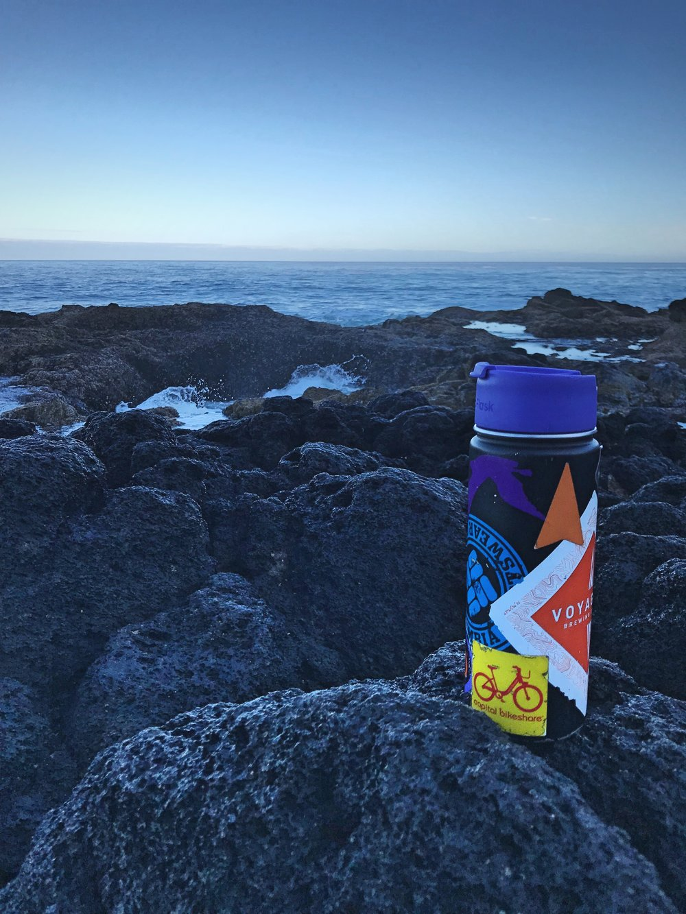 If we want to enjoy a chilly sunrise by the ocean, we can still have hot coffee.