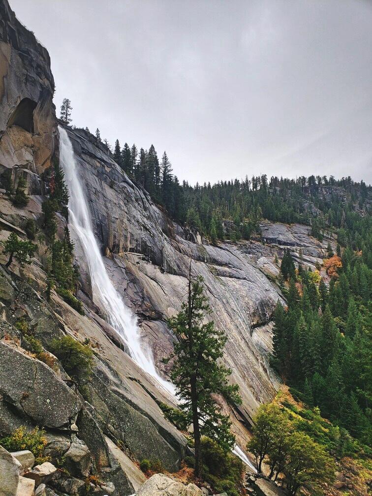 Nevada Falls is nearly 600-feet tall.