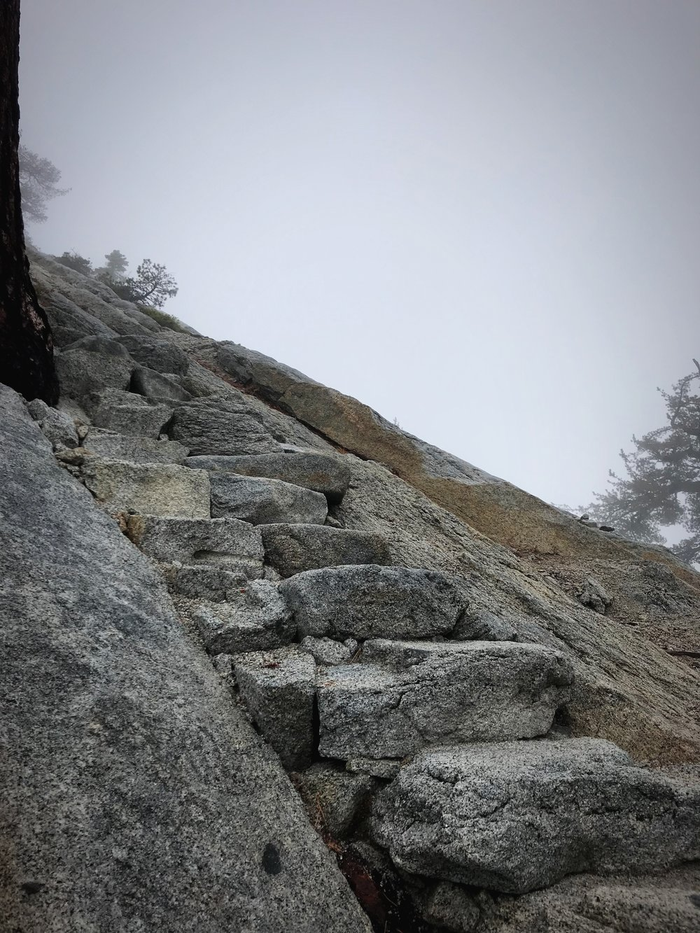 Part of Sub Dome has stone stairs that make the climb a lot easier.