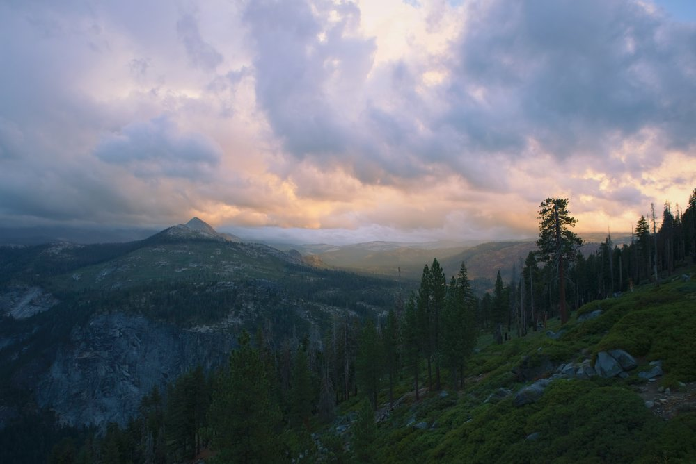 The view in the opposite direction of Half Dome is also really beautiful at sunset.