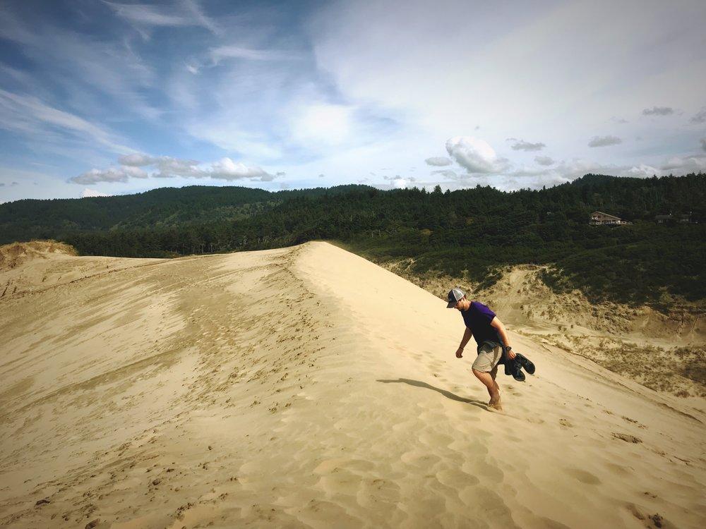 The Cape Kiwanda Dune is the highest dune on the Oregon Coast.