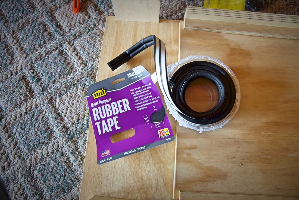 This weather stripping had adhesive backing, so it's very easy to use.
