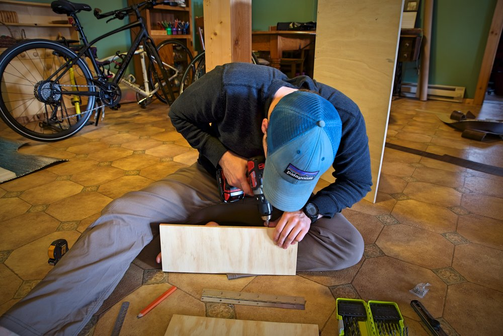 Pre-drilling countersink holes is really helpful if you are trying to build cabinets from plywood.