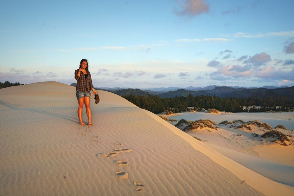 We decided to stay and watch the sunset from the highest dune.