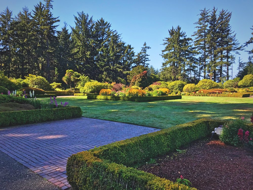 Spend a morning exploring the grounds at Shore Acres State Park on the Oregon Coast.