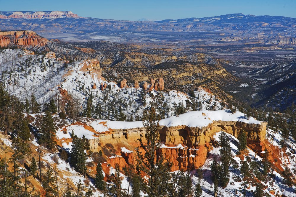 From Farview Point you get a panoramic view of the landscape of Bryce Canyon National Park and well beyond its boundaries as well. On the horizon in this photo, you can see the mountain called Molly's Nipple.
