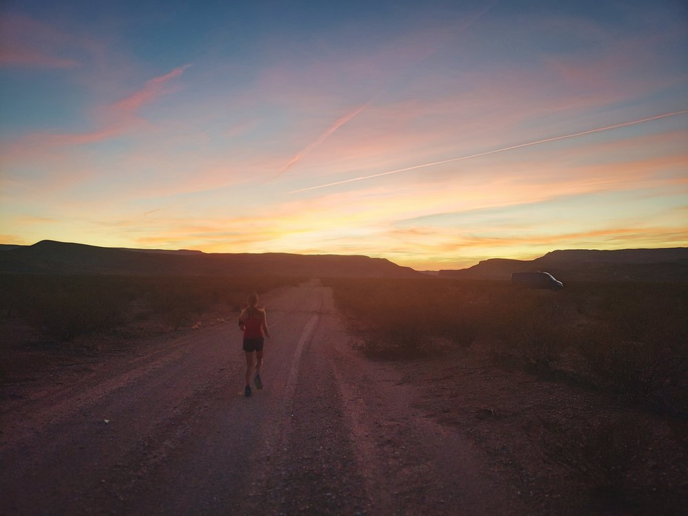 There was a huge network of dirt roads in this area that were perfect for cool evening runs.