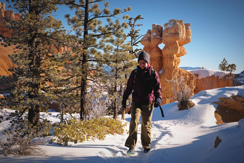 The Fairyland Trail begins on the rim of Bryce Canyon and then descends deep into the otherworldly hoodoos.