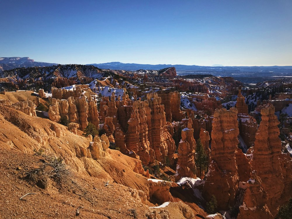 The hoodoos of Fairyland have a different look than those in Bryce Amphitheater.